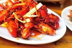 chinese stir fried shrimps Stock Image