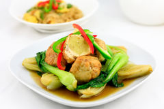 Chinese stir fry chicken ball Stock Photos