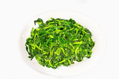 Chinese stir fry snow pea bean sprout with garlic Stock Photos