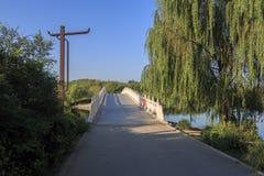 Spring arch bridge. The bright spring days China stone arch bridge Stock Images