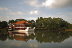 Chinese Stone boat 2. Chines stone boat by lake with reflection Stock Images