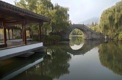 Chinese stone bridge Royalty Free Stock Photo