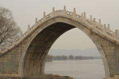 Chinese stone bridge Stock Photo