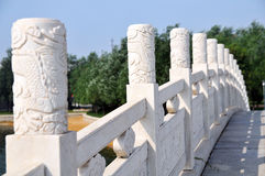 Chinese stone bridge Royalty Free Stock Photography