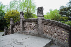 Chinese stone bridge with dragon design Royalty Free Stock Photography
