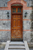 Chinese stone door of old house Royalty Free Stock Photo