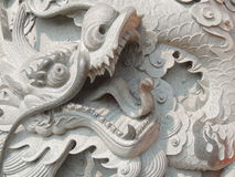 Chinese stone dragon Royalty Free Stock Image