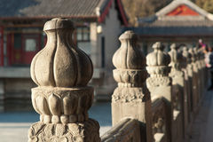 Chinese stone fence Royalty Free Stock Photos