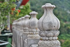 Stone lotus flower fence Royalty Free Stock Photos