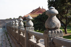 Chinese Stone Fence Royalty Free Stock Photo