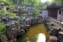 Chinese stone garden, Shanghai, China Stock Photos
