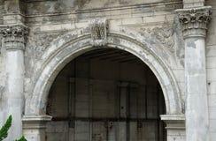 Chinese stone gate Stock Image