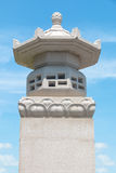 Chinese stone lantern and sky Royalty Free Stock Photos