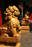 Chinese stone lion Stock Photos