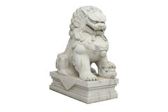Chinese stone lion Stock Photos