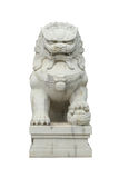 Chinese stone lion. The Chinese Stone Lion Statue Stock Images