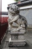 Chinese stone lion Royalty Free Stock Images