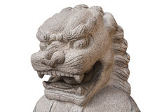 Chinese stone lion design stock photography