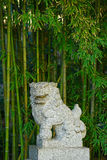 Chinese stone lion Stock Image