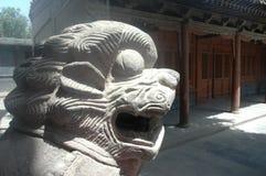 Chinese stone lion Royalty Free Stock Photos