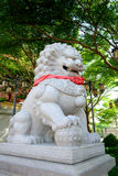 Chinese stone lion sculptor Royalty Free Stock Photo