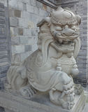 Chinese  stone lion Statue. A Chinese  stone lion Statue Royalty Free Stock Images
