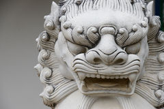 Chinese stone lion statue architecture guardian in chaina cultur. E Royalty Free Stock Photos