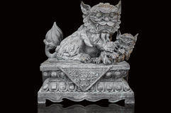 Chinese Stone lion statue Stock Photos