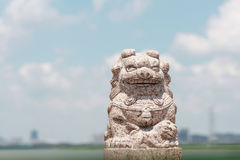 Chinese stone lions Stock Image