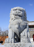 Chinese stone lions Stock Photography