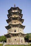 Chinese stone pagoda Stock Photo
