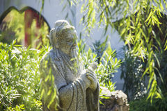 Chinese stone sculpture in garden Stock Images