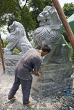 Chinese Stone Sculpturing Stock Image