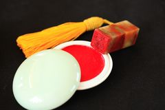 Chinese stone seal. ,China`s traditional arts and crafts stock images