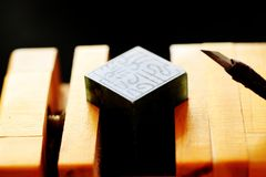 Chinese stone seal. ,China`s traditional arts and crafts royalty free stock photos