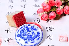 Chinese stone seal. ,China`s traditional arts and crafts royalty free stock images
