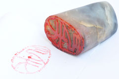 Chinese stone seal and stamp Royalty Free Stock Photos