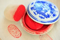 Chinese stone seal stock image