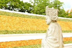 Chinese stone statue, Nakhon Pathom Stock Photo