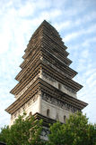 Chinese stone tower Royalty Free Stock Photo
