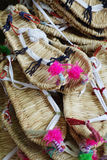 Chinese straw sandals Stock Photo