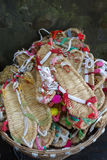 Chinese straw sandals. Chinese traditional straw sandals in the market Royalty Free Stock Photography