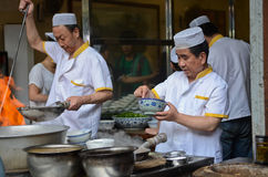 Chinese street cooking Stock Images