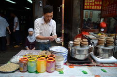 Chinese street cooking Royalty Free Stock Photo