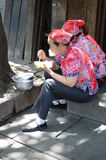 Chinese street eating Royalty Free Stock Image