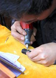 Chinese Street Engraver Royalty Free Stock Photo
