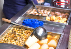 Chinese street food ,Boiling of entrails with soup Royalty Free Stock Photography