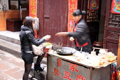 Chinese Street Food Purchase Stock Photos