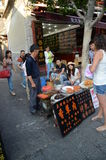 Chinese street food stands Royalty Free Stock Photo