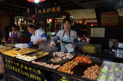 Chinese street food stands Stock Photo